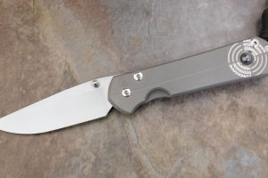 Large Sebenza 21 Unique Silver Contrast with Hematite Cabochon