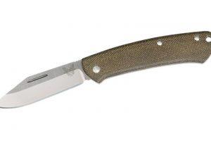 Proper Slip Joint, Green Micarta Clip Point 318